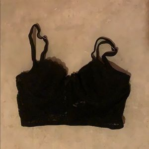 Lace unlined Aerie bra.